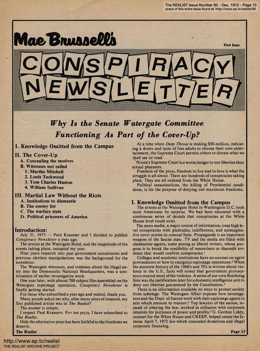 Conspiracy-newsletter