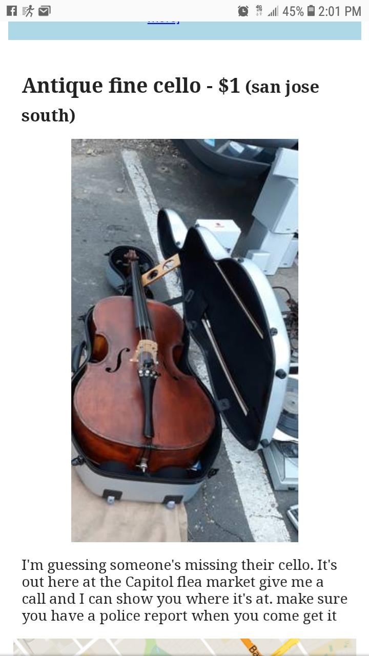 Craigslist-cello